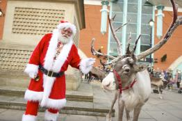 Santa and his reindeer were at St Marks on Thursday, November 24. Photo: Steve Smailes for The Lincolnite