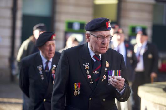 Hundreds gathered to remember those who passed away during war. Photo: Steve Smailes for The Lincolnite