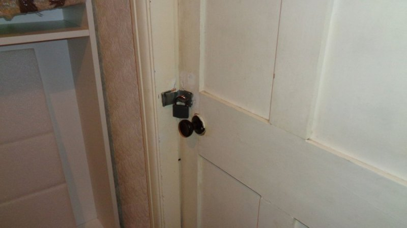 Doors in the property were padlocked from the outside.