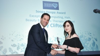 Winner of Exceptional Computing, Hair, Beauty & Holistic Therapy Student, Amy Clifton. Photo: Steve Smailes for The Lincolnite