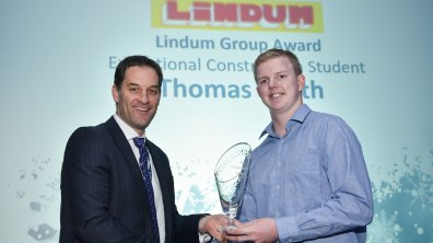 Winner of Exceptional Construction Student and Student of the Year Stonebow Media Award, Thomas Smith. Photo: Steve Smailes for The Lincolnite