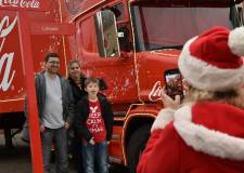 Lincoln is getting into the holiday spirit with the Coca Cola Christmas truck. Photo: Steve Smailes for The Lincolnite