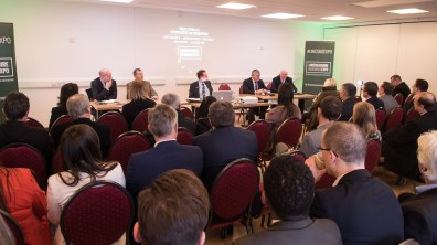 The panel for Brexit: Pitfalls and opportunities for Lincolnshire. Photo: Steve Smailes for The Lincolnite