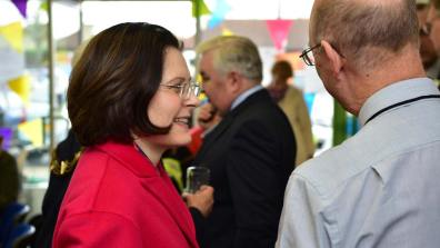 Ursula Lidbetter CEO of Lincolnshire Co-op also attended the official opening