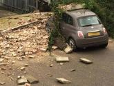 Car crushed in Lincoln as wall collapses under Storm Doris
