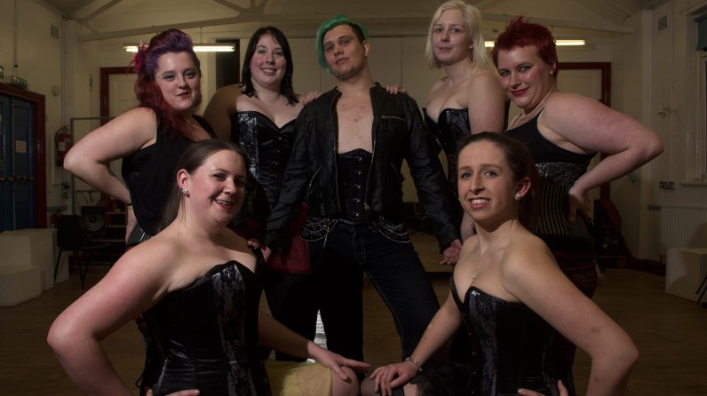 The Illuminaughties burlesque troupe at the Lincoln academy. Photo: Steve Smailes for The Lincolnite