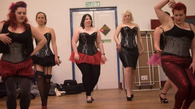 Hayley (middle) aka Iva Derrière. Photo: Steve Smailes for The Lincolnite