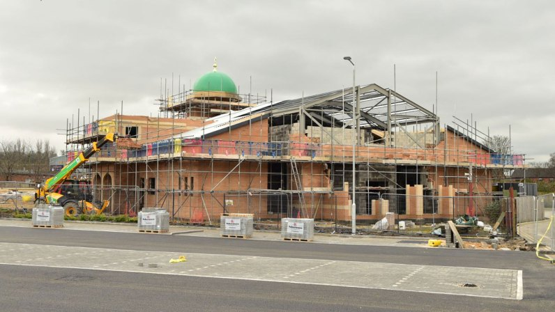 Phase one of the mosque is nearing completion. Photo: Steve Smailes for The Lincolnite
