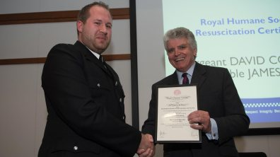 James Latto receiving his award. Photo: Steve Smailes for The Lincolnite