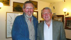 Meeting Paddy Ashdown when he visited Lincoln a few years ago to promote his autobiography.