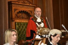 Chris was sworn in during a special civic ceremony at the Guildhall in Lincoln. Photo: Steve Smailes for The Lincolnite