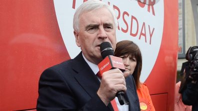 Labour Shadow Chancellor John McDonnell on his visit to Lincoln during the 2017 general election campaign. Photo: Emily Norton for The Lincolnite