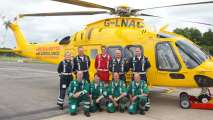 Paramedics and pilots with the new state-of-the-art ambucopter. Photo: Steve Smailes for The Lincolnite