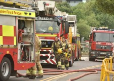 DIY wasp nest 'flame-thrower' sets Lincoln flat alight