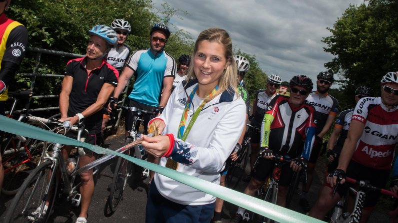 Georgie Twigg MBE officially opened the cycle route on July 2. Photo: Steve Smailes for The Lincolnite