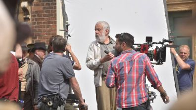 Director Mike Leigh is filming in Uphill Lincoln today. Photo: Steve Smailes for The Lincolnite
