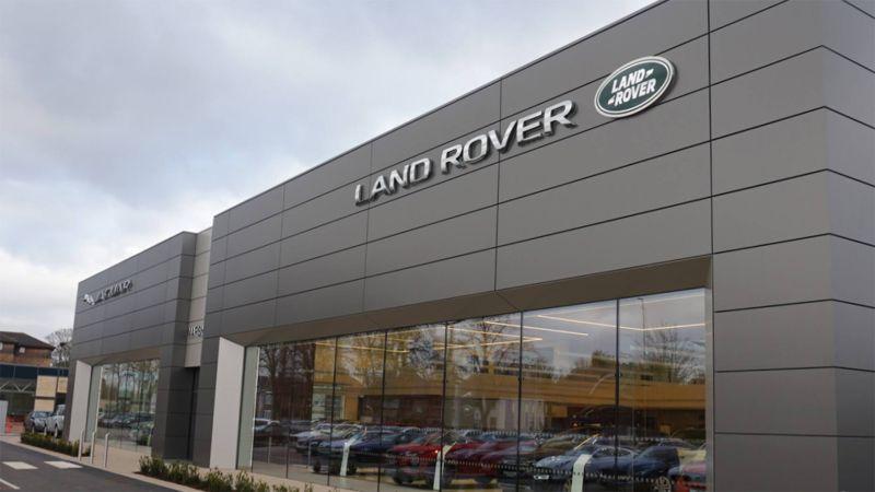 plans revealed for new jaguar land rover dealership lincoln 39 s biggest showroom. Black Bedroom Furniture Sets. Home Design Ideas