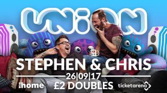 Popular Gogglebox duo Chris and Stephen will come to Home nightclub on September 26. Image: Union Parties Twitter