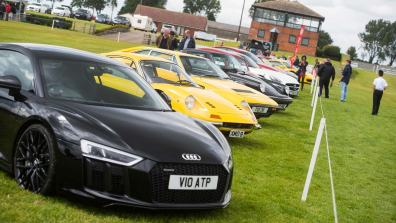 Supercars through the ages at Pistons In The Park. Photo: Steve Smailes / The Lincolnite