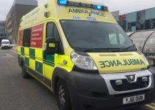 Ambulance crews called to crash on busy Lincoln road