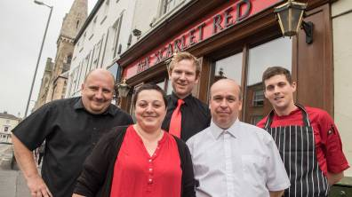 Management and staff at the Scarlet Red opening. Photo: Steve Smailes for The Lincolnite
