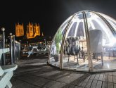 First look: Rooftop dining igloos with views of Lincoln castle and cathedral