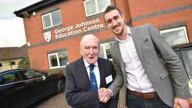 A proud day for George 'Johnny' Johnson. Photo: Steve Smailes for The Lincolnite