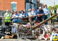 Volunteers clean up Lincoln Sincil Drain