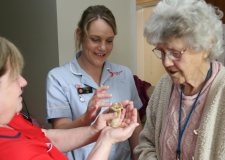 Poultry in motion at Lincoln care home