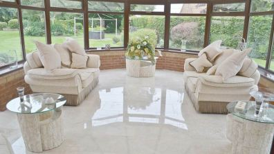 Conservatory at the Scampton home. Photo: Walter's