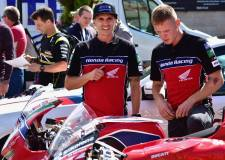 British Superbike riders stop in Lincoln
