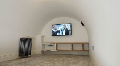 A media room has been built in the original cellar. Photo: Steve Smailes for The Lincolnite