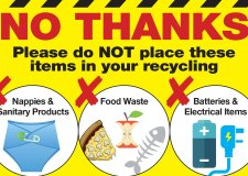Stickers to highlight 'worst offending' recycling items