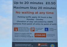 Confusion mounts over train station parking signs