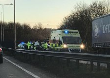 Major delays after motorbike crash on A46 Lincoln bypass