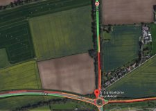 Road blocked after A15 Riseholme roundabout crash