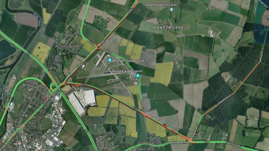 Phenomenal Major Delays After Two Lorries Crash On A46 Download Free Architecture Designs Scobabritishbridgeorg