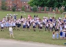 Flashmob send off for headteacher goes viral