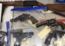 Weapons handed in at Lincoln police station