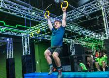 Ninja Warrior course leaping into Lincoln attraction