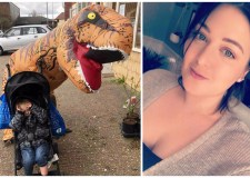 Meet the Lincoln woman who shopped in T-Rex costume