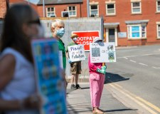 Extinction Rebellion protest in Lincoln asking for COVID-19 citizens' assembly