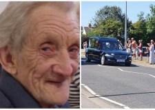 People line the streets in final send-off to Lincoln 'weatherman'
