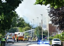 Firefighters tackle commercial site blaze in North Hykeham