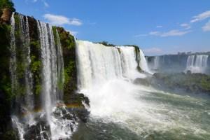 Iguazu Falls from the Brazil side.