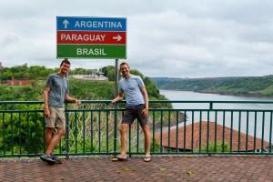 Scott and John at Marco das Tres Fronteiras in Brazil