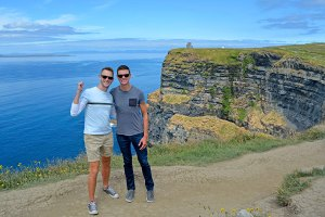 Scott Swiontek and John Line at the Cliffs of Moher, Ireland.