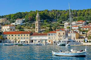 The view of Hvar from the port, Croatia.