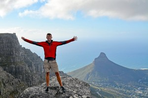 John Line on top of Table Mountain, Cape Town, South Africa.