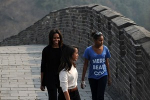 Obama daughters are building walls between themselves and father to preserve their popularity.